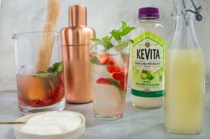 Lime Mint Coconut Mojita with KeVita