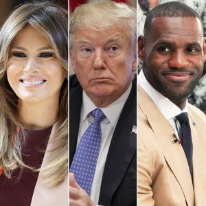 Melania Trump, Donald Trump, Lebron James, Twitter