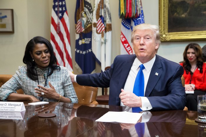 Omarosa and Donald Trump.