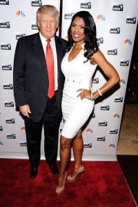 Donald Trump and Omarosa Manigault n word