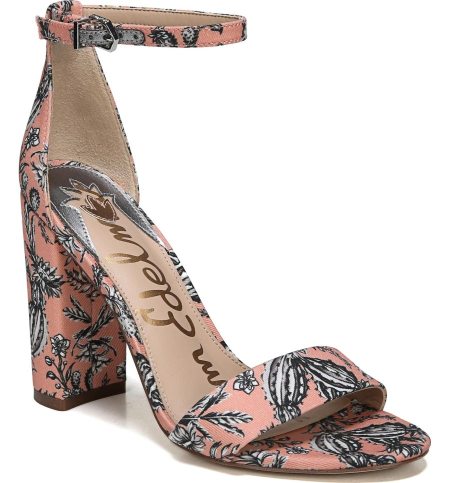 pink floral sam edelman sandal