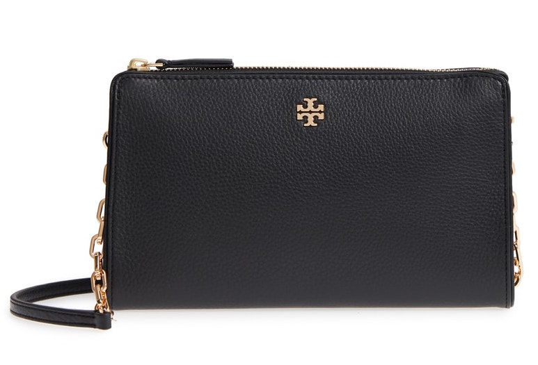 Tory Burch Marsden Leather Wallet Crossbody Bag
