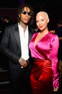 Recording artist Wiz Khalifa (L) and model-TV personality Amber Rose