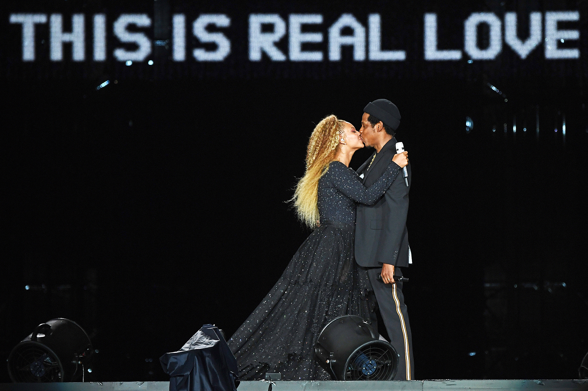 """Beyonce Jay-Z On The Run II Tour - Beyonce and Jay-Z perform onstage during the """"On The Run II"""" Tour – New Jersey at MetLife Stadium on August 2, 2018 in East Rutherford, New Jersey."""