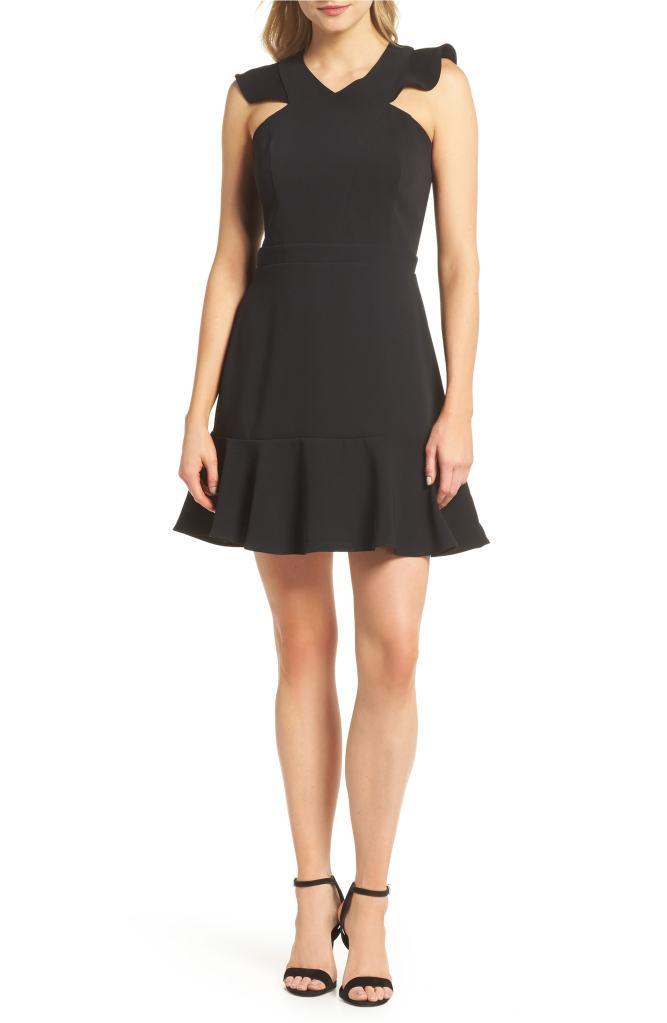 black ruffle dress nordstrom sale