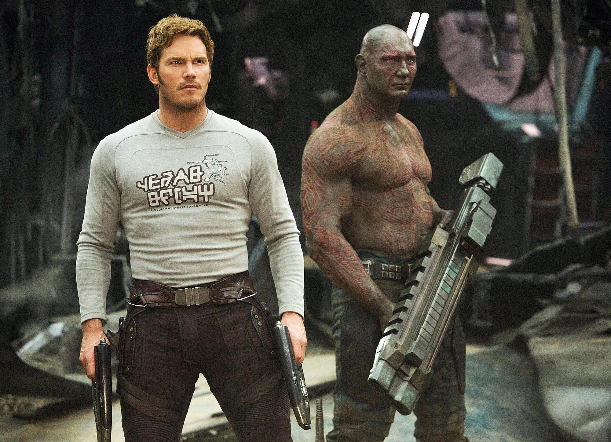 Chris Pratt Dave Bautista 'Guardians Of The Galaxy Vol 2