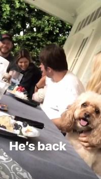Chris Pratt Katherine Schwarzenegger Family Dinner