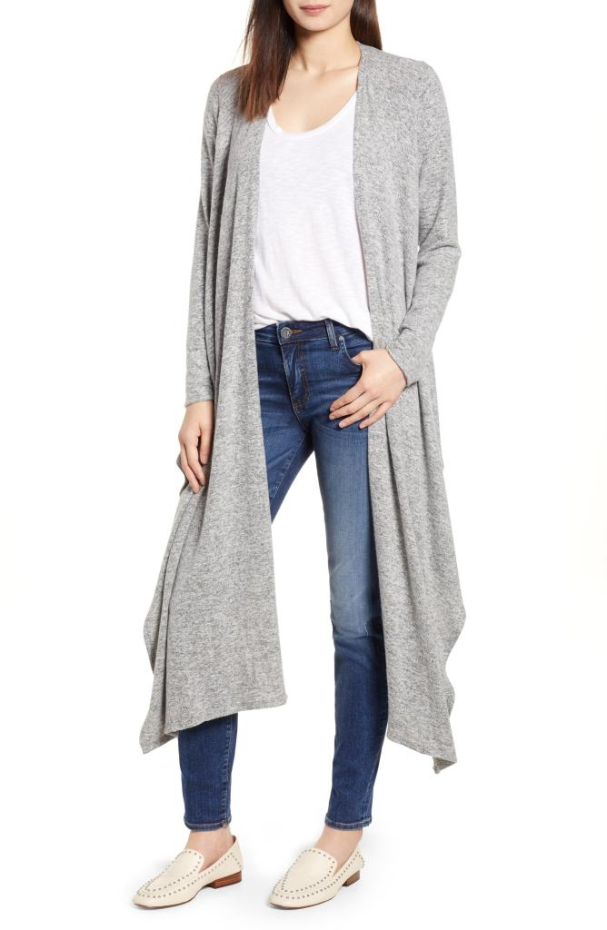 convertible cardigan gray nordstrom