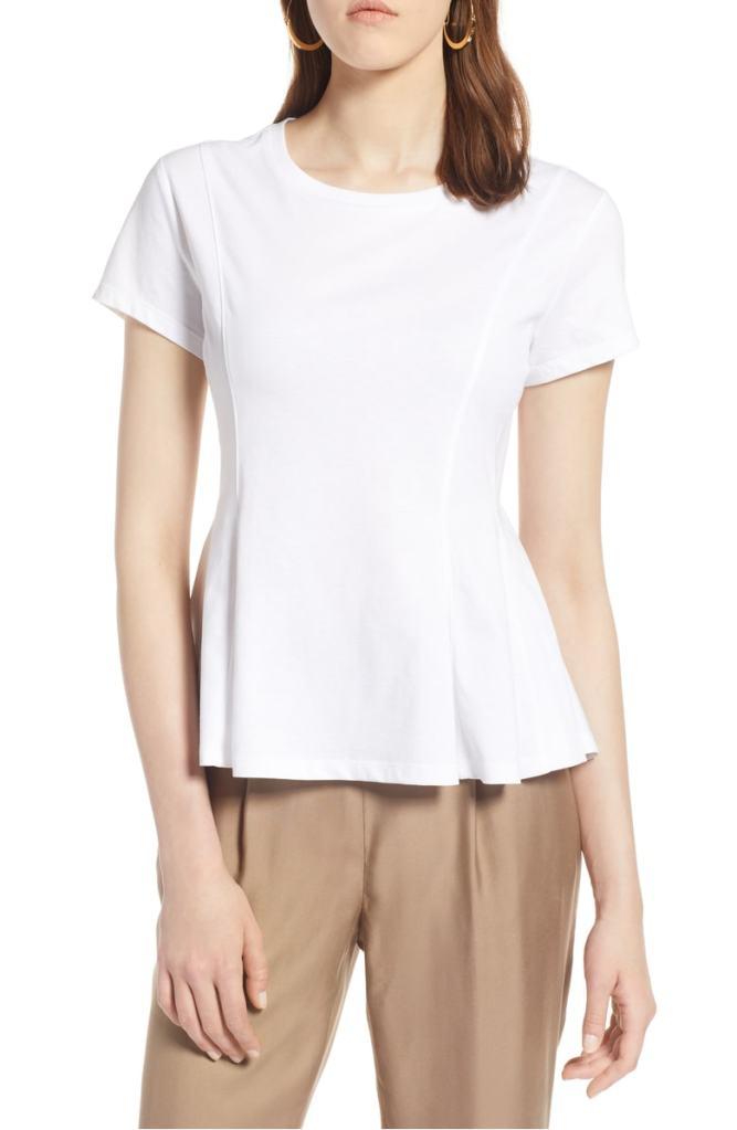 t shirt nordstrom dressy peplum swing style