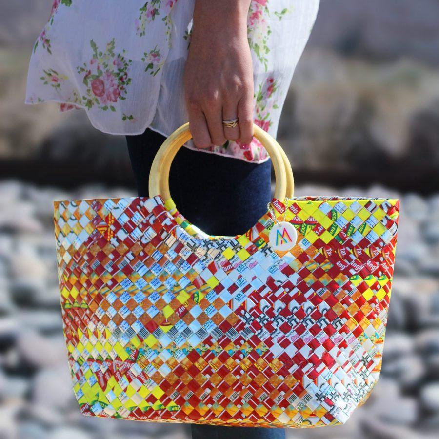 colorful artisan woven handmade handbag