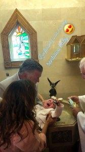Alec Baldwin, Hilaria Baldwin, and Leonardo Baldwin kids baptism