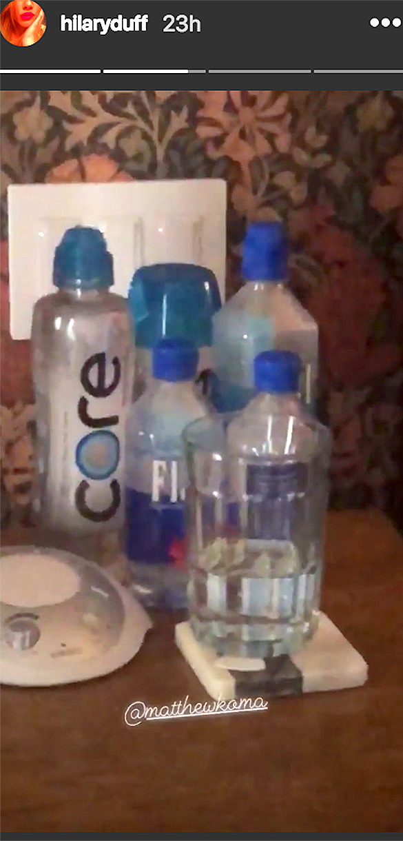 hilary duff instagram water