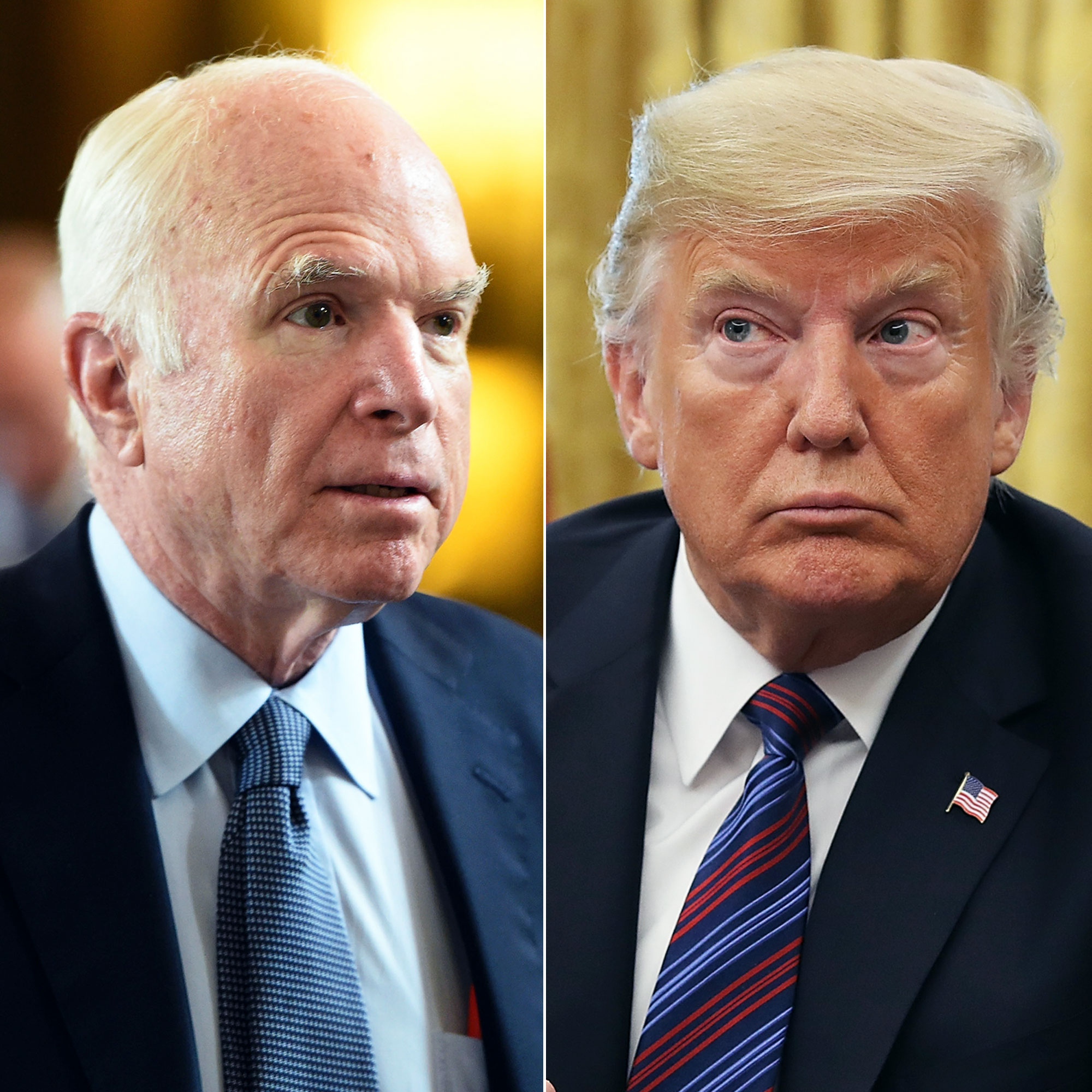 John McCain Takes Aim at Donald Trump in Final Message as White House Flag Flies at Full-Staff