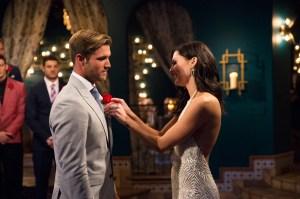 Jordan Kimball and Becca Kufrin on The Bachelorette.