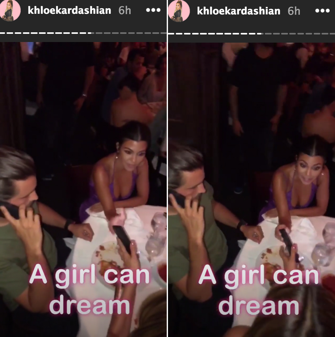 Khloe Trolls Kourt And Scott To Get Back Together At Kylies Party