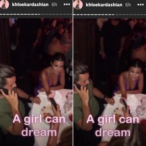 Scott Disick and Kourtney Kardashian at Kylie Jenner's Birthday party