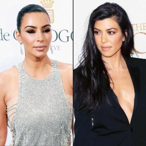 595dc96291 Kim Kardashian, Kourtney Kardashian Take Their Feud to Twitter