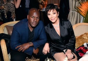Corey Gamble and Kris Jenner attend the 'American Woman' premiere party at Chateau Marmont on May 31, 2018.
