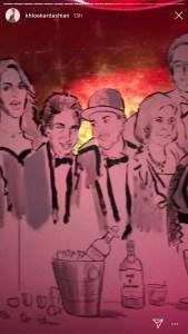 Kylie Jenner's 21st birthday mural.