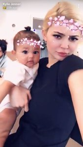 Kylie Jenner with daughter, Stormi