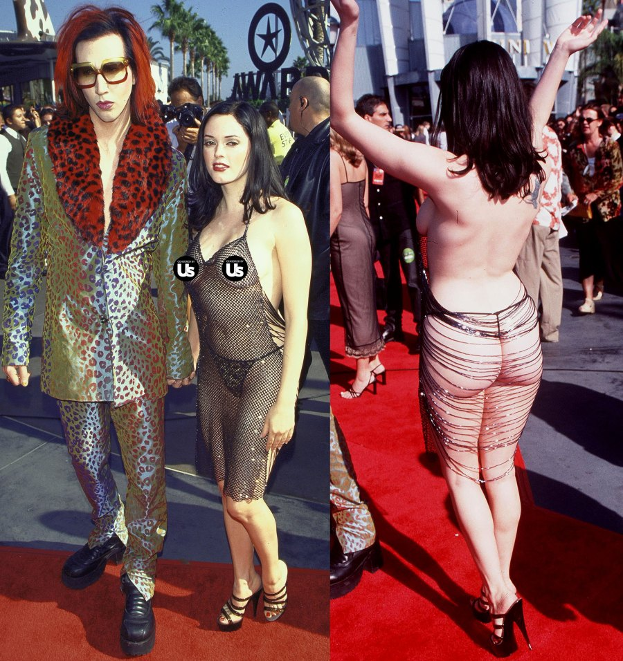 Marilyn Manson Rose McGowan VMAs 1998