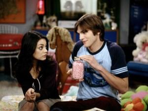 Mila Kunis and Ashton Kutcher on 'That 70s Show.'
