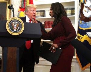 Omarosa Manigault and Donald Trump