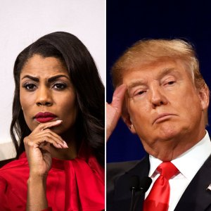 Omarosa Manigault and Donald Trump
