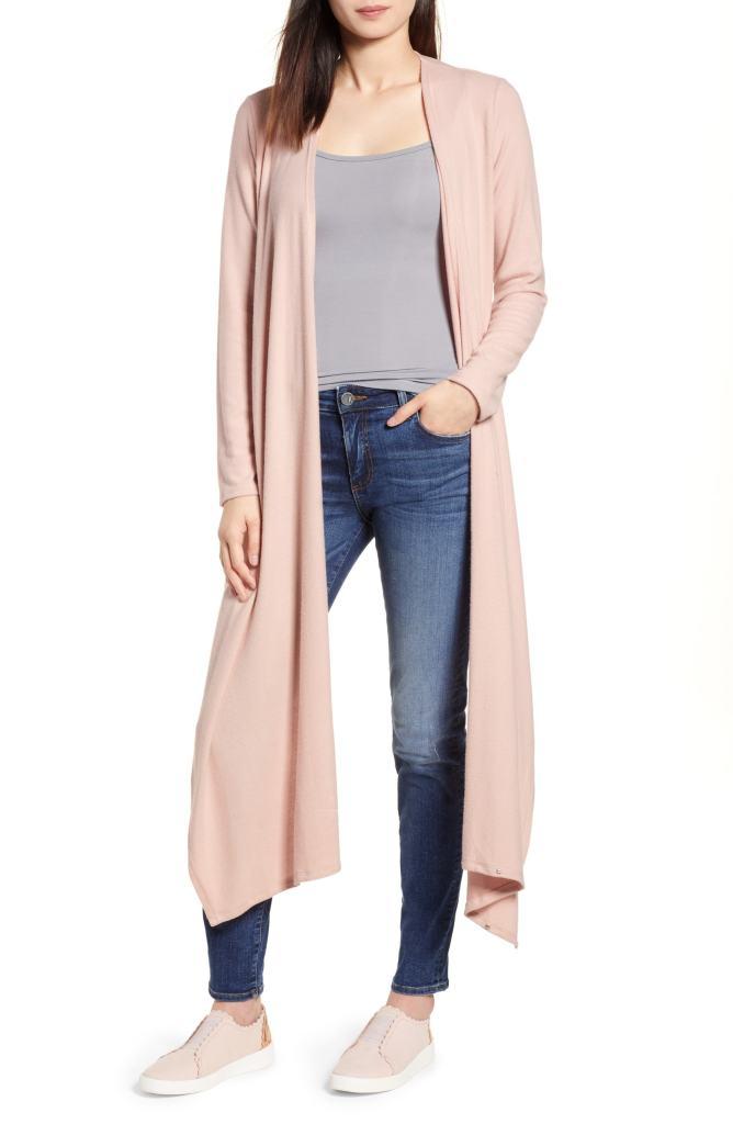 pink convertible cardigan wrap top