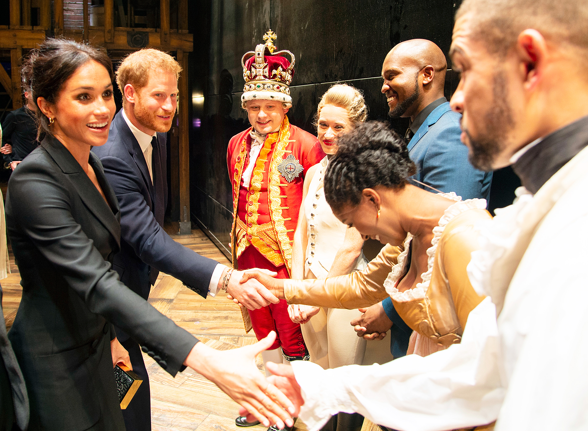 Duchess Meghan Prince Harry Hamilton Cast