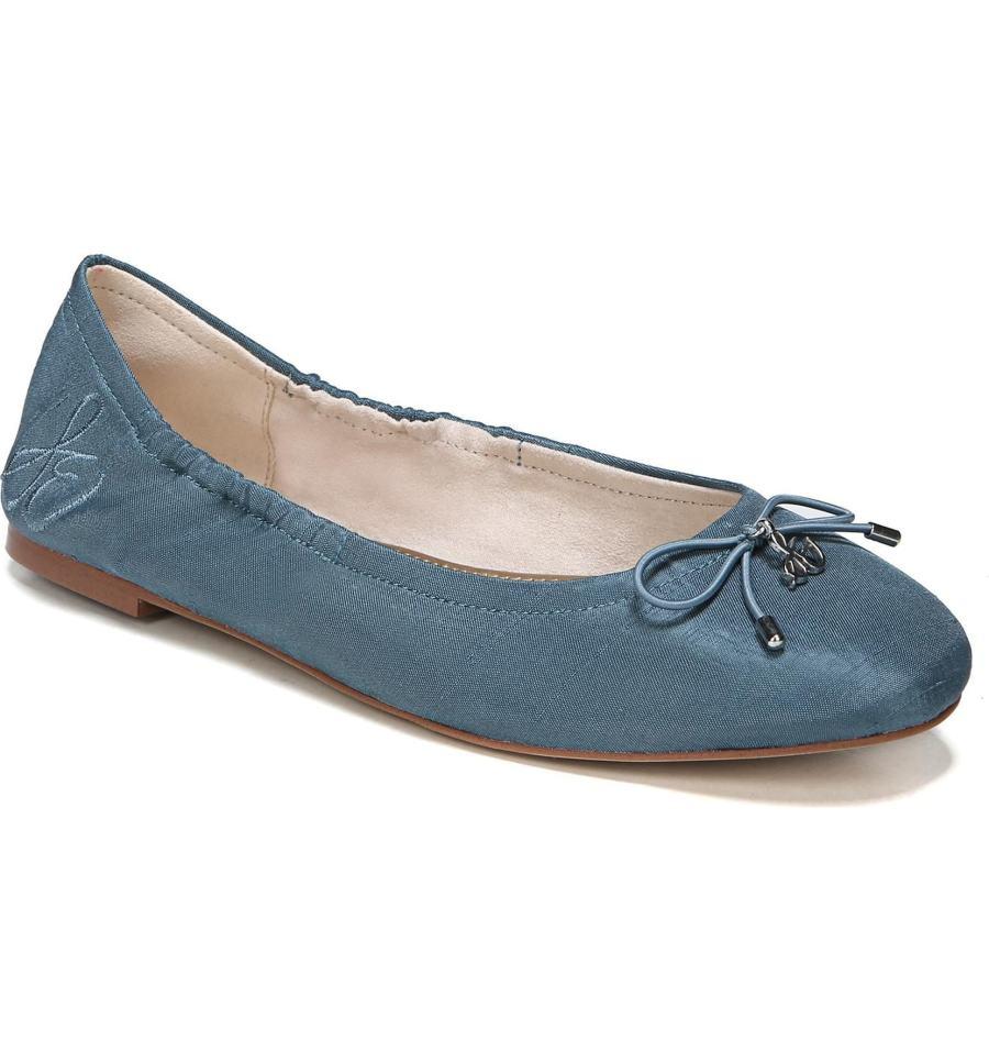 blue sam edelman flat shoes