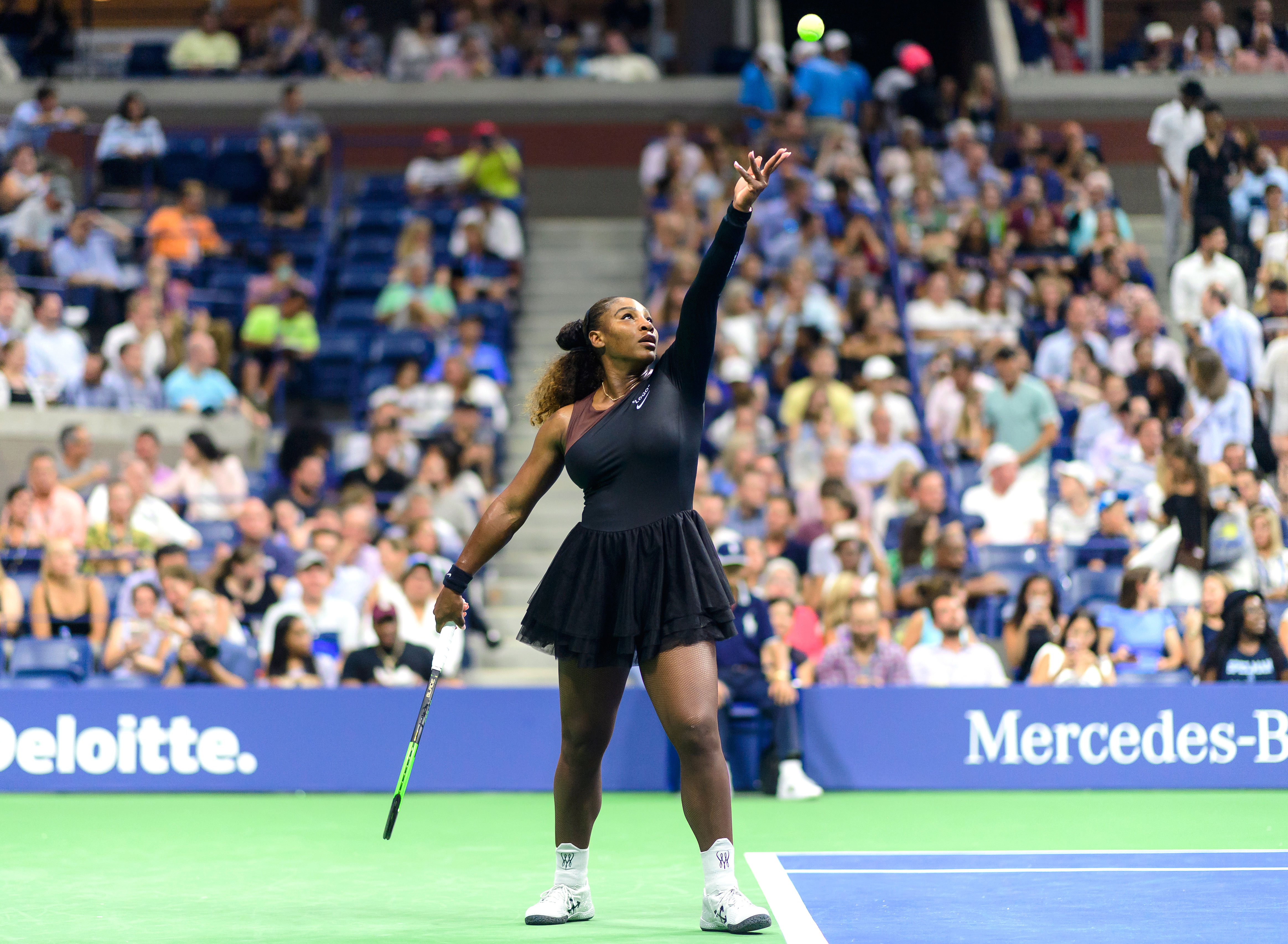 Serena Williams' one sleeve Nike tulle dress for US Open