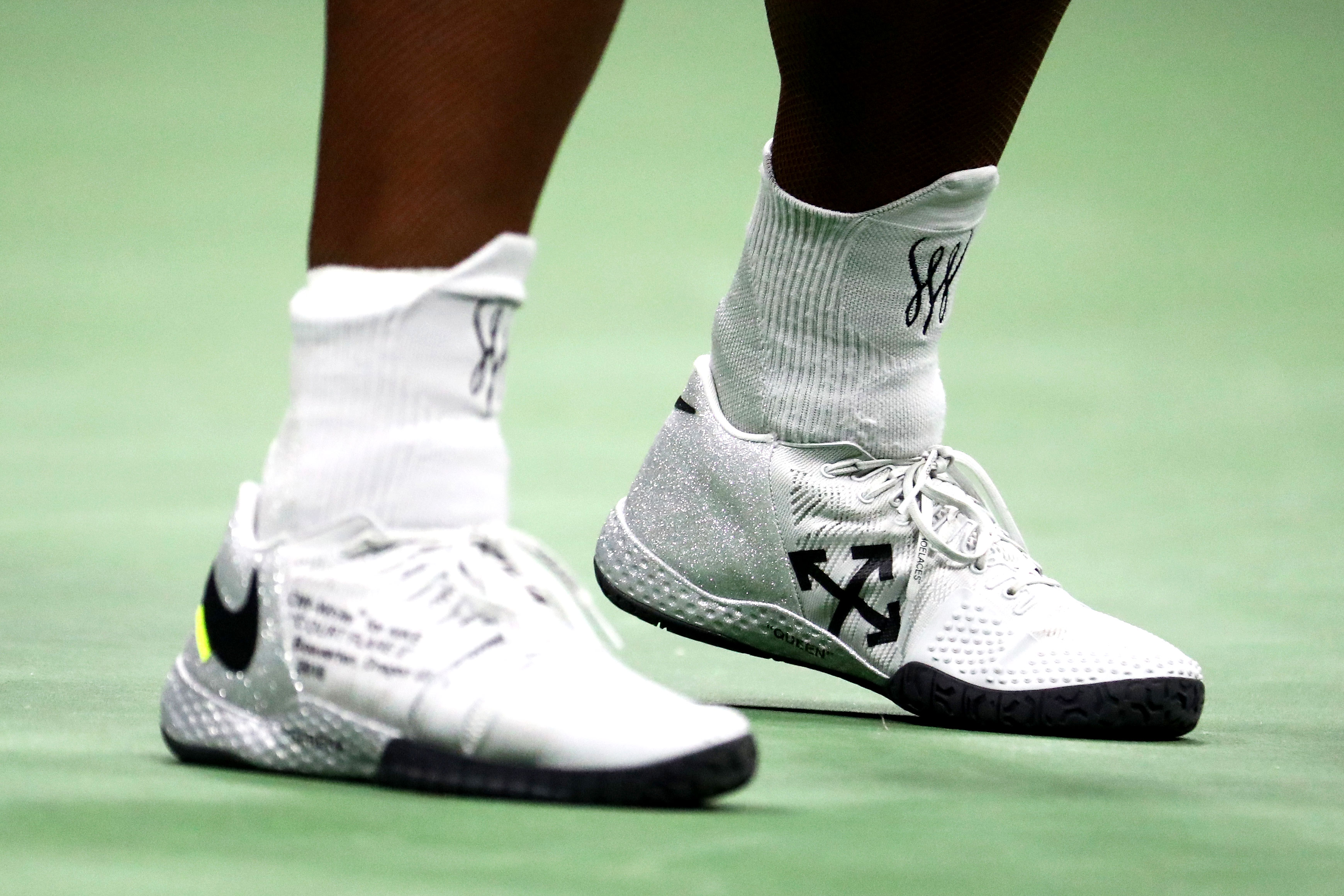 5b19534173fb Serena Williams  One-Shoulder Off-White x Nike 2018 U.S. Open Dress