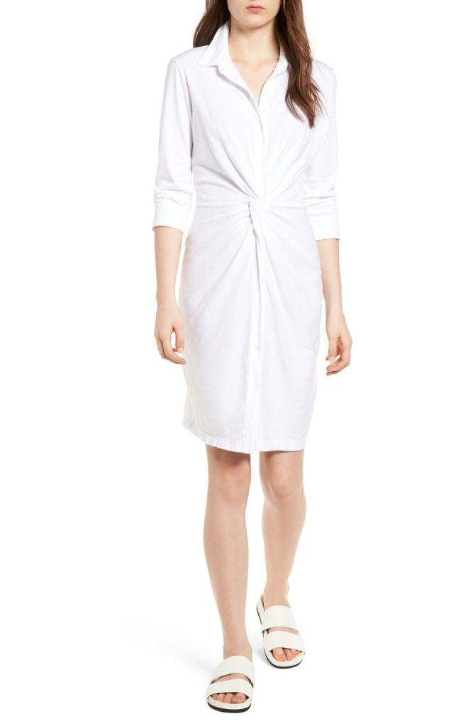 white shirt dres