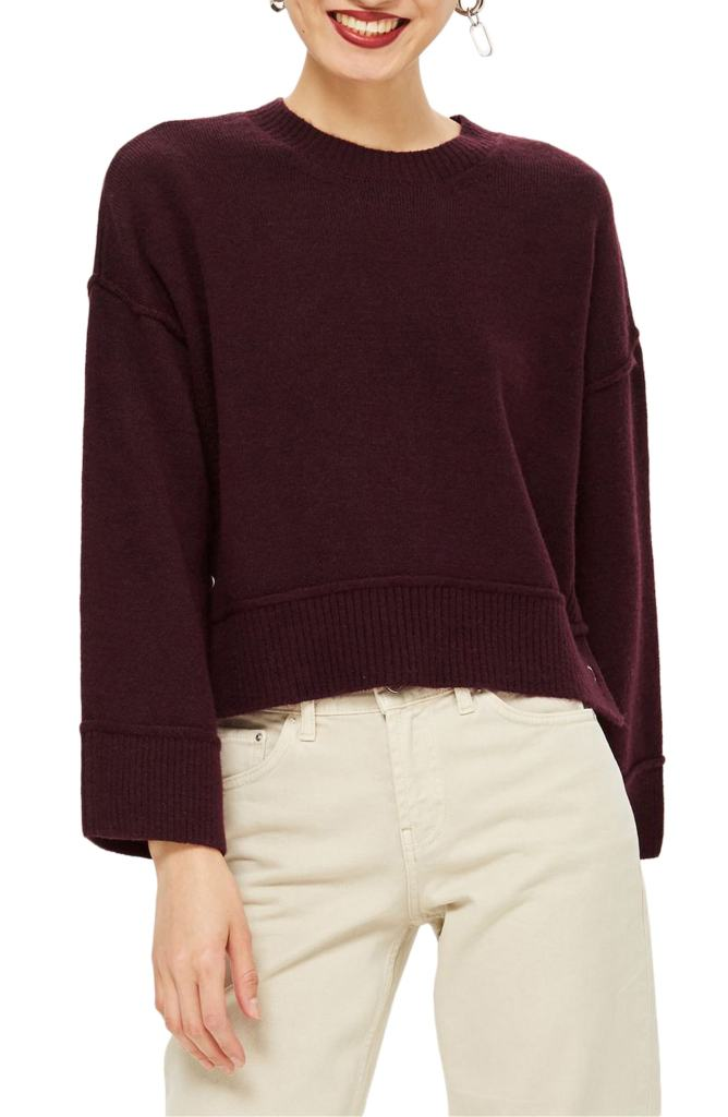 topshop crop sweater