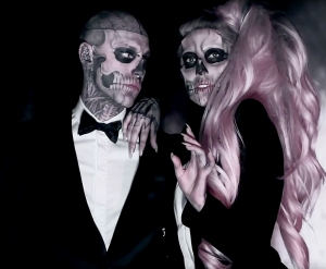 Zombie Boy and Lady Gaga in Born This Way