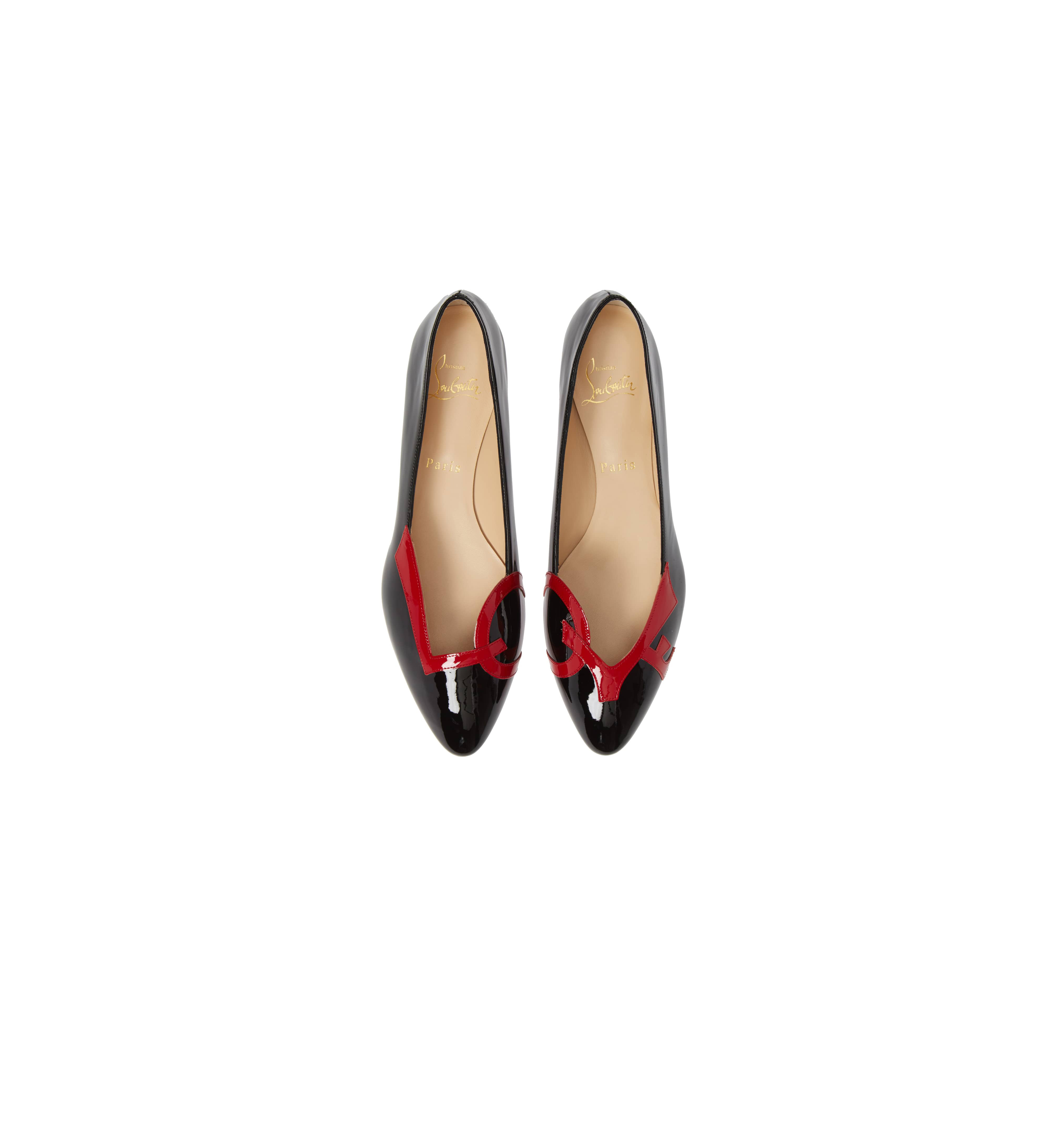 b2020435c09 These Christian Louboutin Ballet Flats Have a Romantic Message