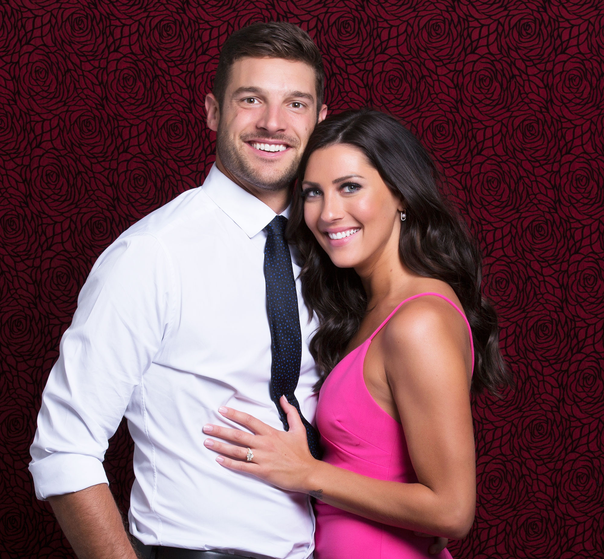 Becca-Kufrin-Garrett-Yrigoyen - THE BACHELORETTE – It's official! During the season finale of the The Bachelorette Becca Kufrin made Garrett Yrigoyen a happy man by choosing him and he got down on one knee and proposed.