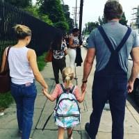 Celebrity Kids Back To School Kristen Bell Dax Shephard