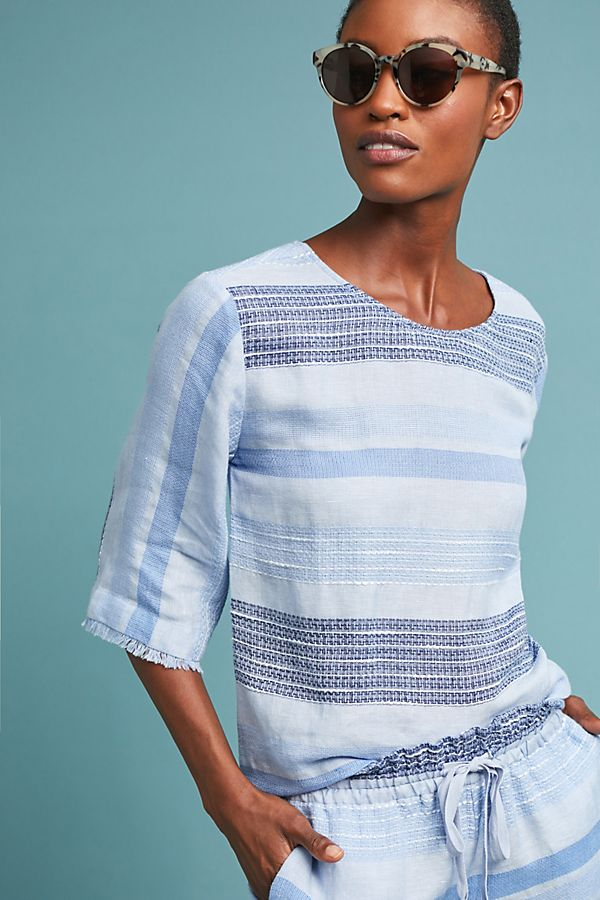 Cloth & Stone Textured Stripe Pullover