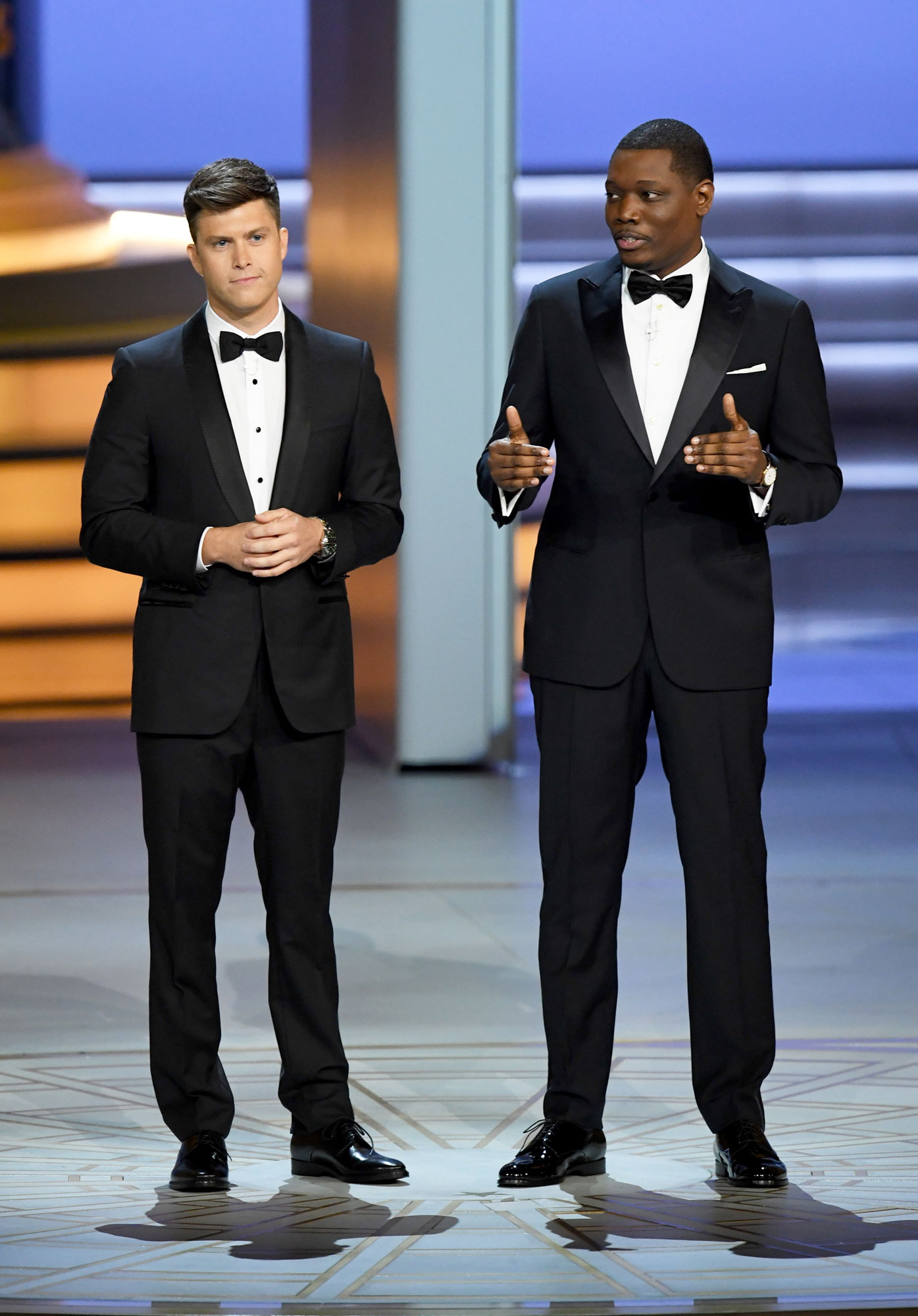 Watch Colin Jost And Michael Che Talk Roseanne During 2018 Emmys Opening All World Report