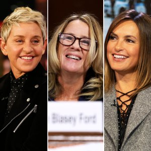 Ellen DeGeneres, Mariska Hargitay and Dr. Christine Blasey Ford