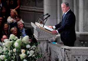 George W. Bush, US Senator John McCain, Memorial, Funeral