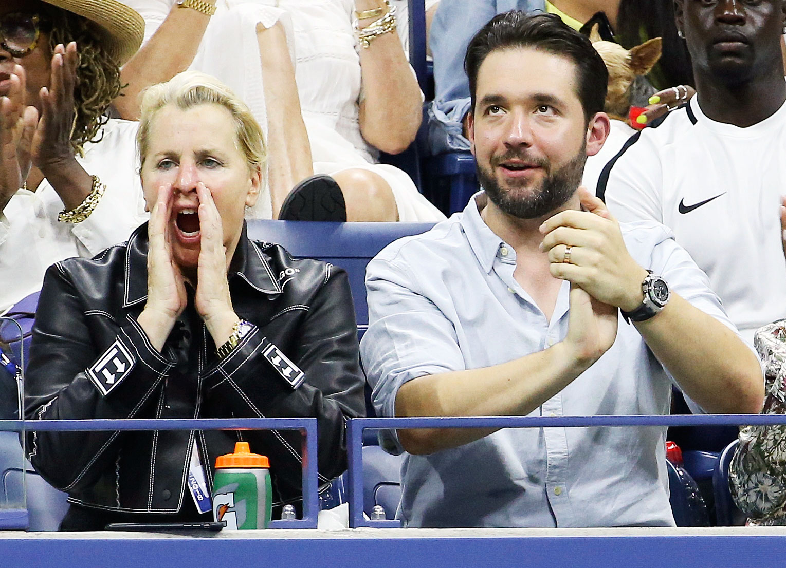 Alexis Ohanian Us Open 2018 - Williams' agent and her husband supported her from the sidelines during her match on August 29.