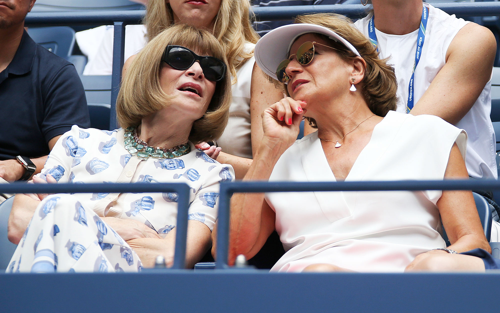 Anna Wintour Lynette Federer Us Open 2018 - Wintour also talked with Roger Federer's mother during his August 30 match.