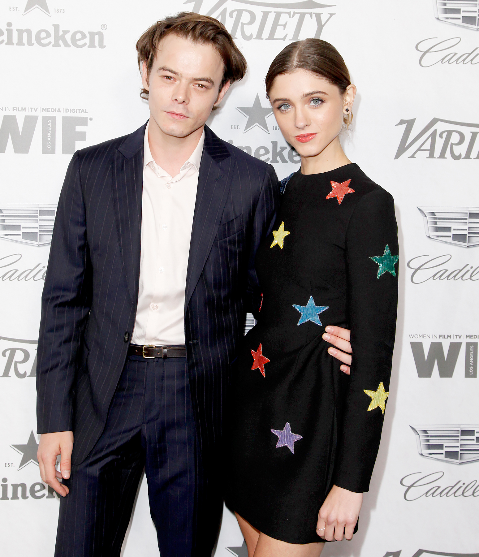 Natalia-Dyer-and-Charlie-Heaton-PDA-2 - Charlie Heaton and Natalia Dyer attend Variety and Women In Film's 2018 Pre-Emmy Celebration at Cecconi's on September 15, 2018 in West Hollywood, California.