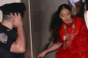 Nicki Minaj, Cardi B, Brawl, Injury
