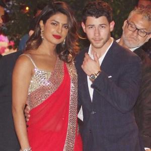 Priyanka Chopra, Nick Jonas, Traditional Indian Dress