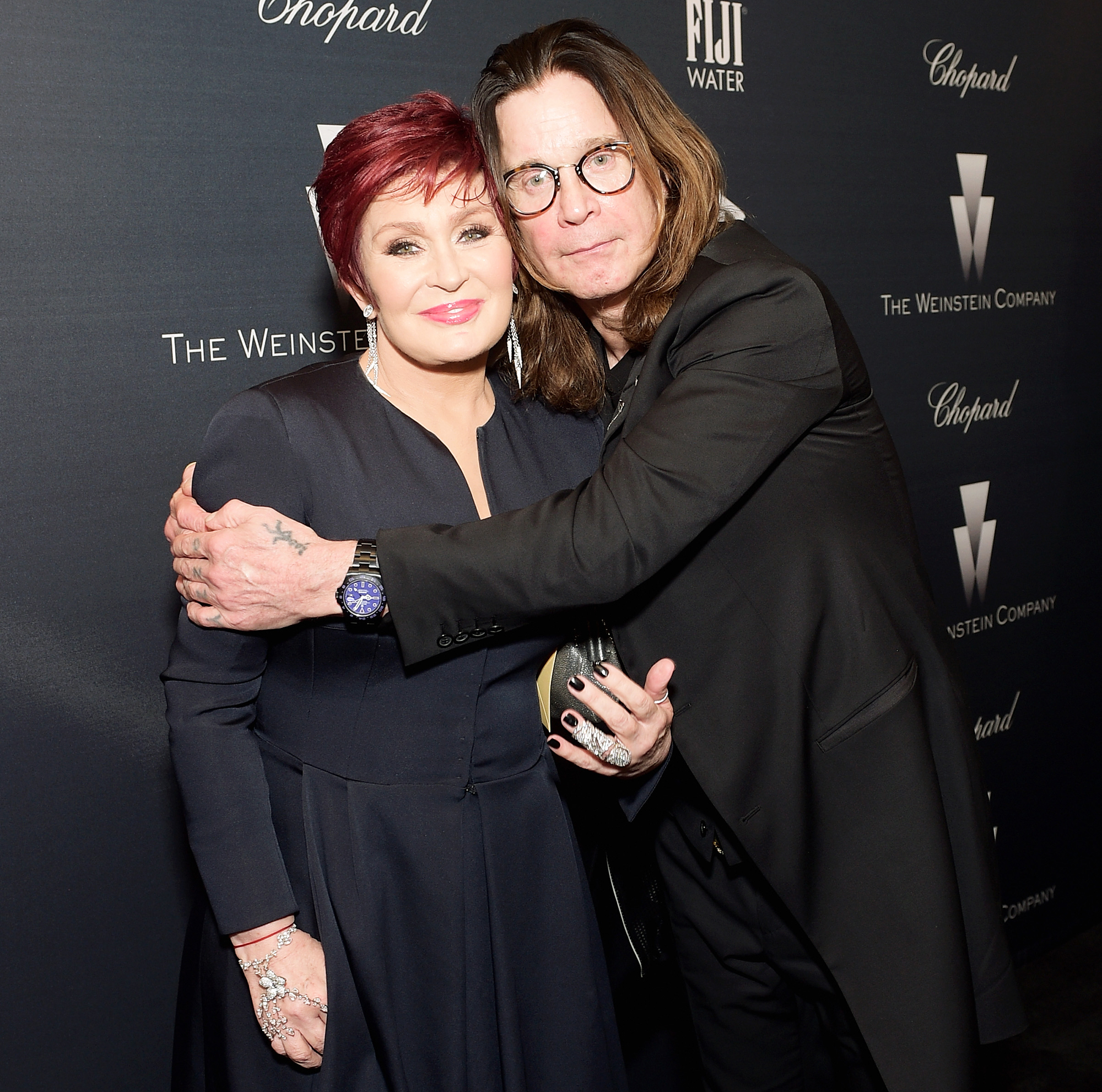 Kelly Osbourne Sharon Ozzy Anniversary Forever Love - Sharon Osbourne and Ozzy Osbourne attend The Weinstein Company's Academy Awards Nominees Dinner in partnership with Chopard, DeLeon Tequila, FIJI Water and MAC Cosmetics on February 21, 2015 in Los Angeles, California.