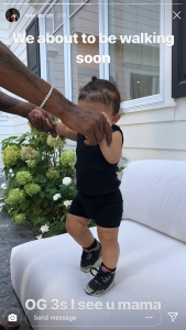 Travis Scott Says He and Kylie Jenners Daughter Stormi Is 'About to Be Walking Soon'